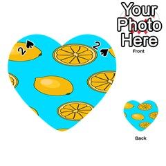Lemon Fruit Pattern Playing Cards 54 (Heart)  by artpics
