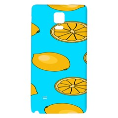 Lemon Fruit Pattern Galaxy Note 4 Back Case by artpics