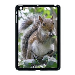 Gray Squirrel Eating Sycamore Seed Apple Ipad Mini Case (black) by GiftsbyNature