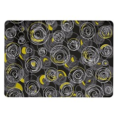 Gray and yellow abstract art Samsung Galaxy Tab 10.1  P7500 Flip Case by Valentinaart
