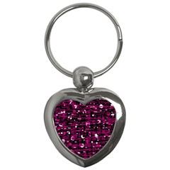 Magenta Abstract Art Key Chains (heart)  by Valentinaart