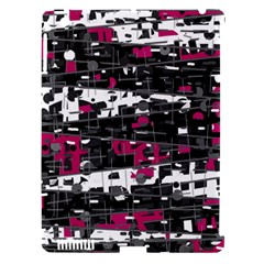 Magenta, White And Gray Decor Apple Ipad 3/4 Hardshell Case (compatible With Smart Cover) by Valentinaart