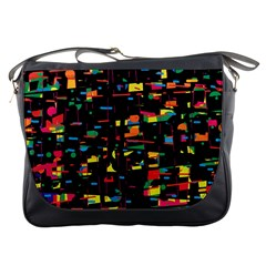 Playful Colorful Design Messenger Bags by Valentinaart