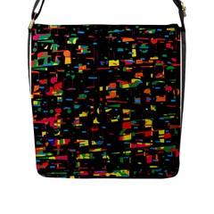 Playful Colorful Design Flap Messenger Bag (l)  by Valentinaart