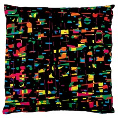 Playful Colorful Design Large Flano Cushion Case (two Sides) by Valentinaart