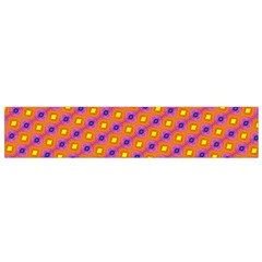 Vibrant Retro Diamond Pattern Flano Scarf (small) by DanaeStudio