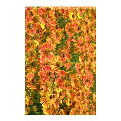Helenium Flowers And Bees Shower Curtain 48  X 72  (small)  by GiftsbyNature