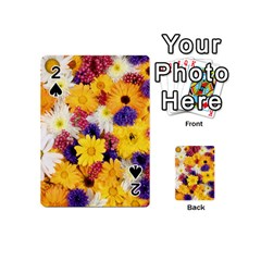 Colorful Flowers Pattern Playing Cards 54 (Mini)  by Zeze