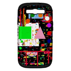 Colorful Facroty Samsung Galaxy S Iii Hardshell Case (pc+silicone) by Valentinaart
