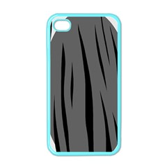 Gray, Black And White Design Apple Iphone 4 Case (color) by Valentinaart