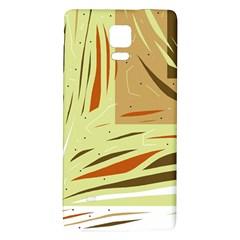 Brown Decorative Design Galaxy Note 4 Back Case by Valentinaart