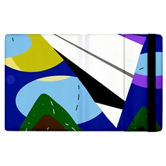 Paper Airplane Apple Ipad 3/4 Flip Case by Valentinaart