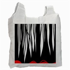 Black Forest Recycle Bag (one Side) by Valentinaart