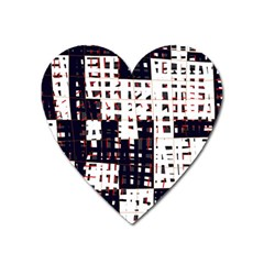 Abstract city landscape Heart Magnet