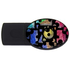 Colorful Puzzle Usb Flash Drive Oval (2 Gb)  by Valentinaart