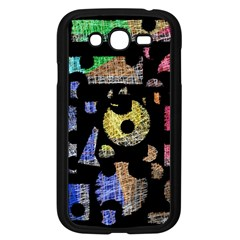 Colorful Puzzle Samsung Galaxy Grand Duos I9082 Case (black) by Valentinaart