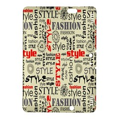 Backdrop Style With Texture And Typography Fashion Style Kindle Fire HDX 8.9  Hardshell Case by Zeze
