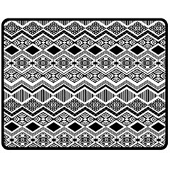 Aztec Design  Pattern Double Sided Fleece Blanket (Medium)  by Zeze