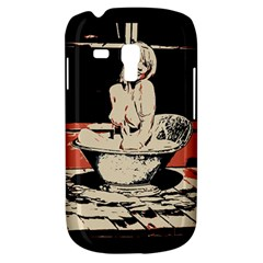 23 Sexy Conte Sketch Girl In Dark Room Naked Boobs Bathing Country Samsung Galaxy S3 Mini I8190 Hardshell Case by PeterReiss