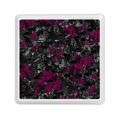 Magenta And Gray Decorative Art Memory Card Reader (square)  by Valentinaart
