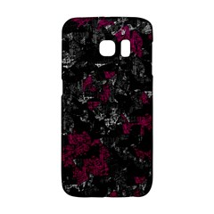Magenta And Gray Decorative Art Galaxy S6 Edge by Valentinaart