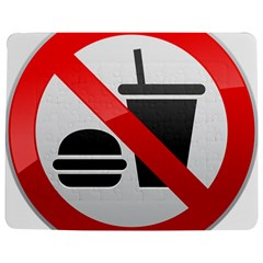 No Eating Or Drinking Prohibition Sign Clipart Jigsaw Puzzle Photo Stand (Rectangular) by Zeze