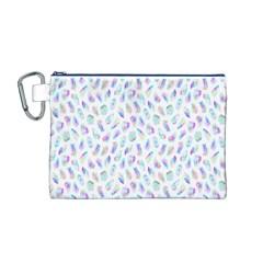 Aura Polygons Canvas Cosmetic Bag (m) by miranema