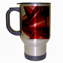 Red Bow Travel Mug (Silver Gray) by Zeze
