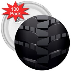 Tire 3  Buttons (100 pack)  by Zeze