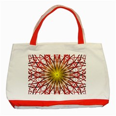 A Fractal Flower Classic Tote Bag (Red) by Zeze