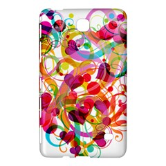 Abstract Colorful Heart Samsung Galaxy Tab 4 (7 ) Hardshell Case  by Zeze