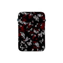 Red, White And Black Abstract Art Apple Ipad Mini Protective Soft Cases by Valentinaart