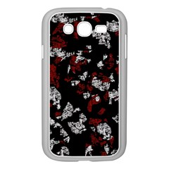 Red, white and black abstract art Samsung Galaxy Grand DUOS I9082 Case (White)