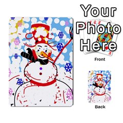 Snowman Multi-purpose Cards (Rectangle)  by Valentinaart