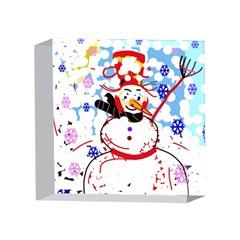 Snowman 4 x 4  Acrylic Photo Blocks by Valentinaart