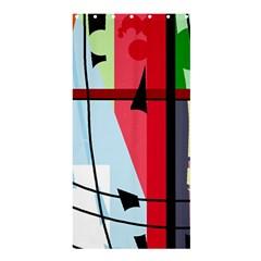 Window Shower Curtain 36  X 72  (stall)  by Valentinaart
