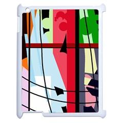 Window Apple Ipad 2 Case (white) by Valentinaart