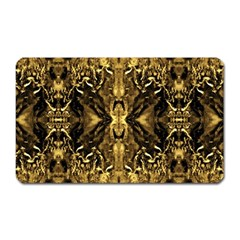 Beautiful Gold Brown Traditional Pattern Magnet (rectangular) by Costasonlineshop