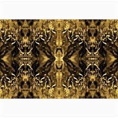 Beautiful Gold Brown Traditional Pattern Collage Prints by Costasonlineshop