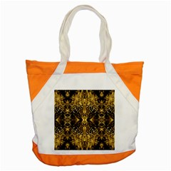 Beautiful Gold Brown Traditional Pattern Accent Tote Bag by Costasonlineshop