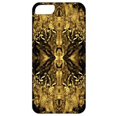 Beautiful Gold Brown Traditional Pattern Apple Iphone 5 Classic Hardshell Case by Costasonlineshop