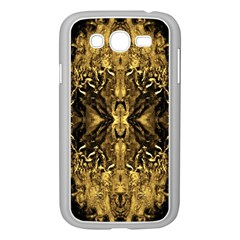 Beautiful Gold Brown Traditional Pattern Samsung Galaxy Grand Duos I9082 Case (white) by Costasonlineshop