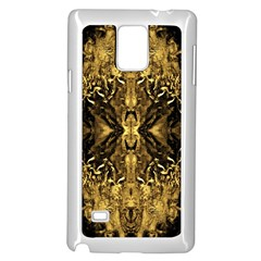 Beautiful Gold Brown Traditional Pattern Samsung Galaxy Note 4 Case (White) by Costasonlineshop