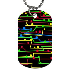 Stay In Line Dog Tag (two Sides) by Valentinaart