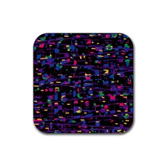 Purple Galaxy Rubber Square Coaster (4 Pack)  by Valentinaart