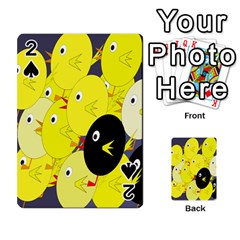 Yellow Flock Playing Cards 54 Designs  by Valentinaart