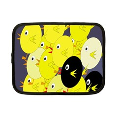 Yellow flock Netbook Case (Small)  by Valentinaart