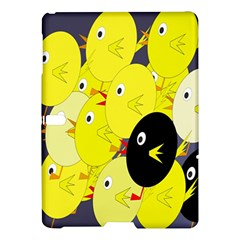 Yellow Flock Samsung Galaxy Tab S (10 5 ) Hardshell Case  by Valentinaart