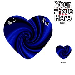 Blue Decorative Twist Playing Cards 54 (heart)  by Valentinaart