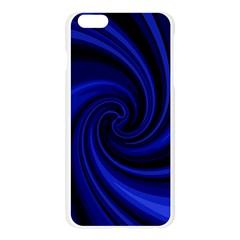 Blue decorative twist Apple Seamless iPhone 6 Plus/6S Plus Case (Transparent) by Valentinaart